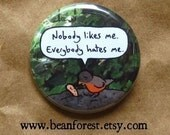 guess I'll go eat worms - pinback button badge