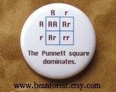 the Punnett square dominates - dna gift genetics pin pinback button badge scientist genes