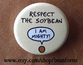 respect the soybean - vegetarian cooking button cute soy tofu magnet mighty vegetable art healthy food pins kitchen decor eat your veggies
