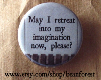 retreat imagination - book magnet reader gift tv funny book nerd gift shy introvert gift fiction geekery sci fi fantasy magnet stress relief