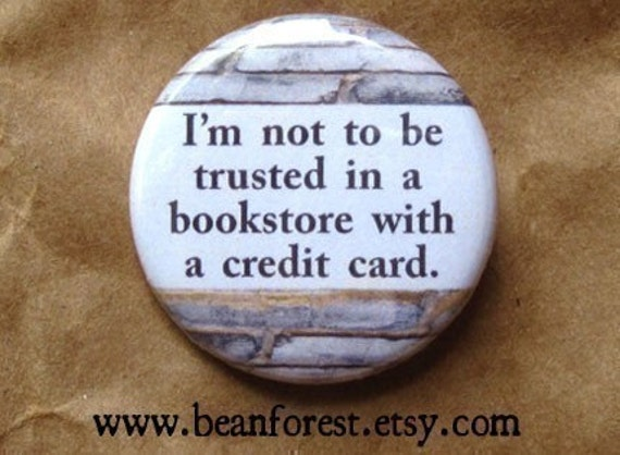 book lover button reading quotes magnet 1.25