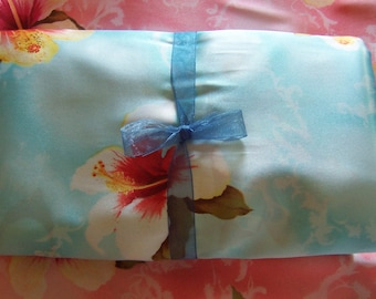 Turquoise Blue Silky Satin Fabric - 1/2 yard x 60 inches