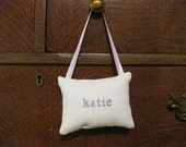Katie Counted Cross Stitch Hanging Pillow