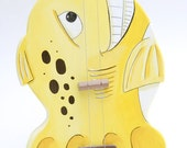 The Yellow Fish Guitar 1,2,or 3 string