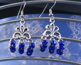 30 % OFF SALE --Gorgeous Blue dangling earrings