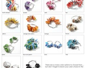 you pick your color - small hoop earrings - made from recycled magazines, red, pink, blue, green, white, black, orange, yellow, purple