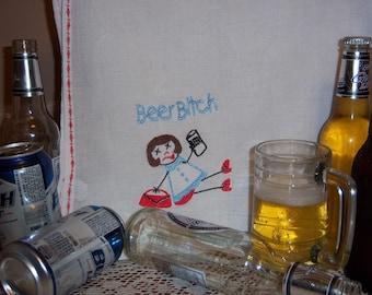 Beer Bitch Dish Towel