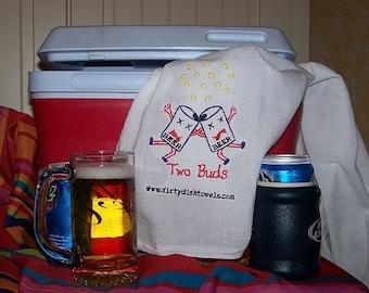Two Buds Dish Towel