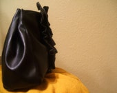Six Black Frill Faux Leather Clutches for jenne313