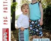 Pdf Sewing Pattern:  The AJ Bottoms - Pants, Shorts & Bloomers (Instant Download)