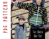 PDF Sewing Pattern:  The Which Way Out Jacket (Instant Download)