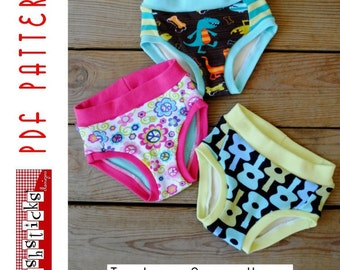 PDF Sewing Pattern:  The Little Fishies Undies (Instant Download)