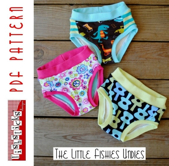 PDF Sewing Pattern:  The Little Fishies Undies