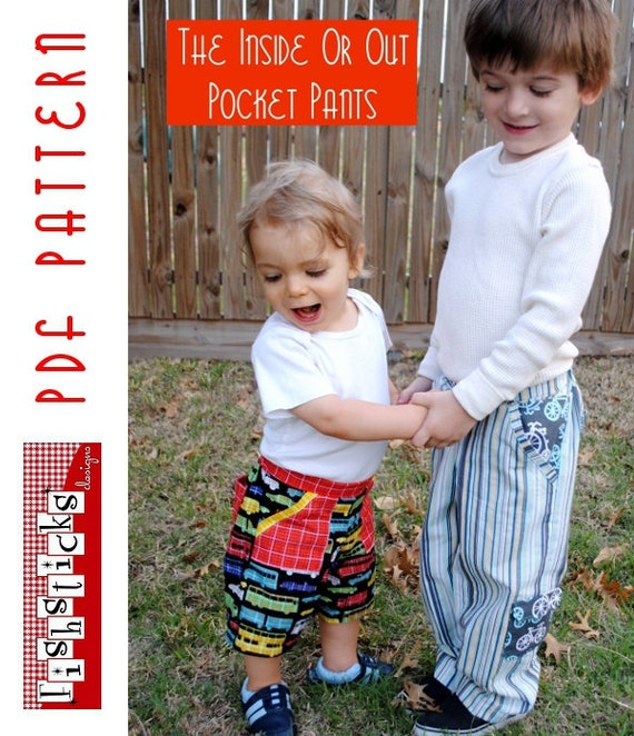 PDF Sewing Pattern:  The Inside or Out Pocket Pants