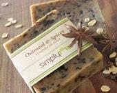 Organic OATMEAL CHAI Handmade Cold Process Natural Soaps [Savon Bio a Froid]