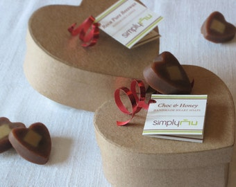 50 CUSTOM Wedding & Baby Shower Favors: Choc-Vanilla, Almond-Honey, Moroccan Clay, or Rose-Lavendar  HEART SOAPS