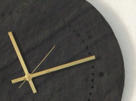 60 Minutes Large SALVAGED SLATE Minimalist Gray, Red, Green Wall CLOCK—Wedding Registry, Housewarming Gift [Ardoise Horloge / Reloj Pizarra]