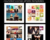 Set of 20 Rounded Corner Photo Album/Collage Templates