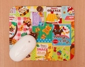 Japanese Animal Candy Ads Mouse Pad