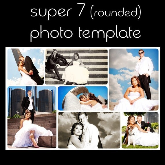 Super 7 rounded,  Photography Template / Storyboard