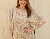 RESERVED for Falysha Paisely Lace, Loose Fitting Womens Spring Top-size Medium