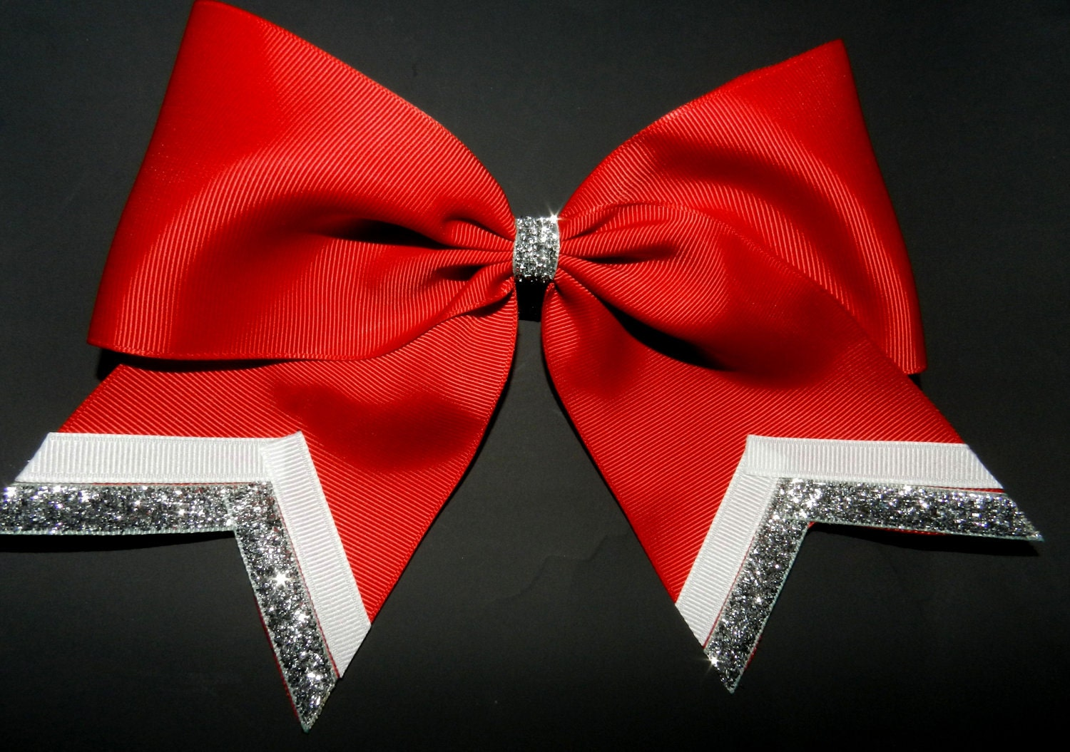 Image result for red and white cheer bows
