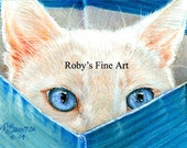 Cat Print Playful Kitten 5x7 Giclee by Roby Baer PSA