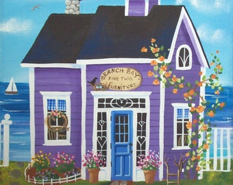Branch Bay Furniture Shop Folk Art Print