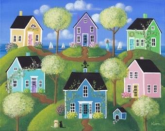 Summerview Hills  Folk Art Print