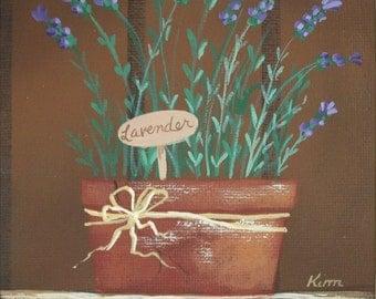 A Little Lavender Folk Art Print