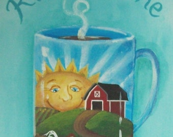 Good Morning Folk Art Print