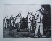 Car Boot (Original Hand Pulled Collagraph Artist Print)
