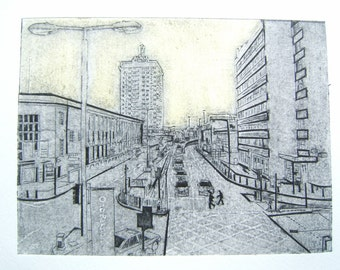 Ring Road II (Original Collagraph Hand Pulled Artist Print)