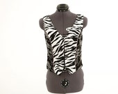 Vest In Camo And Animal Print
