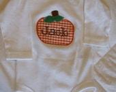 Personalized Pumpkin Onesie
