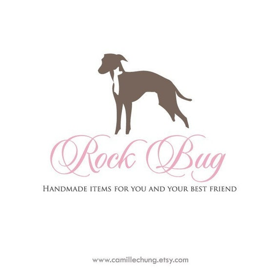 Dog Logo, Pet Logo, Jewelry Branding, Photography Logo, Modern Logo Design, Text Logo, Custom Business Branding, 3 Collateral Items