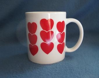 Vintage, Hearts Mug
