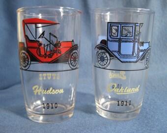 Pair of Vintage, Antique Car Shot Glasses