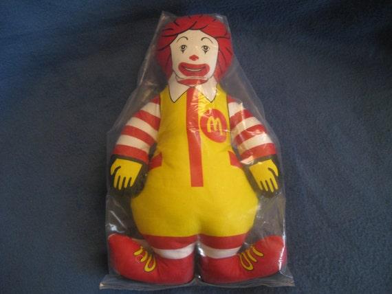 Vintage, Ronald McDonald Stuffed Doll