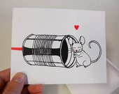 Phone Tag- Mouse Love Valentine's Day Card