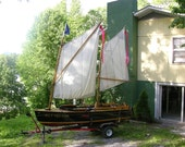 Replica 1955 Century Whirwind Runabout/Speedboat with Shallop Sail Rig