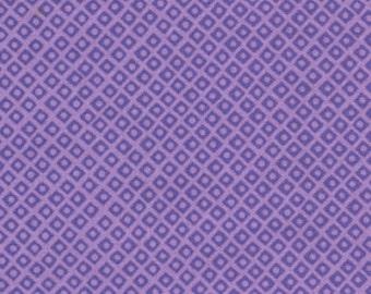 Michael Miller Mini Mikes Dot 'n Square Fabric- Lavender 1 yard