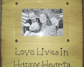 Rustic Picture Frame - Love - Family - Happy quote