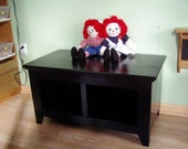 """Hallway Cubby Bench Country 42"""" Solid Pine 2 Cubby Bench"""