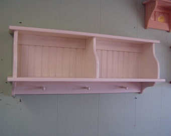 Kitchen Cupboard Wall Shelf Country Hanging Rack With Shaker Pegs