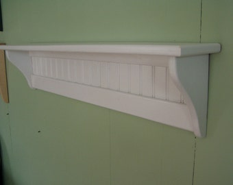 Pine Painted Wood Wall Shelf 36 Inches White
