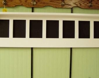 """Wood Wall Shelf Message Board Display Rack 48"""""""