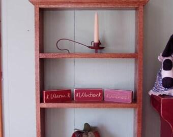 Oak Display Wall Shelf or Standing Display Rack