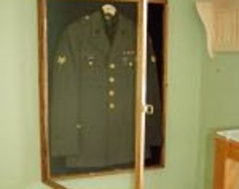 Military Uniform Display Case Memorial