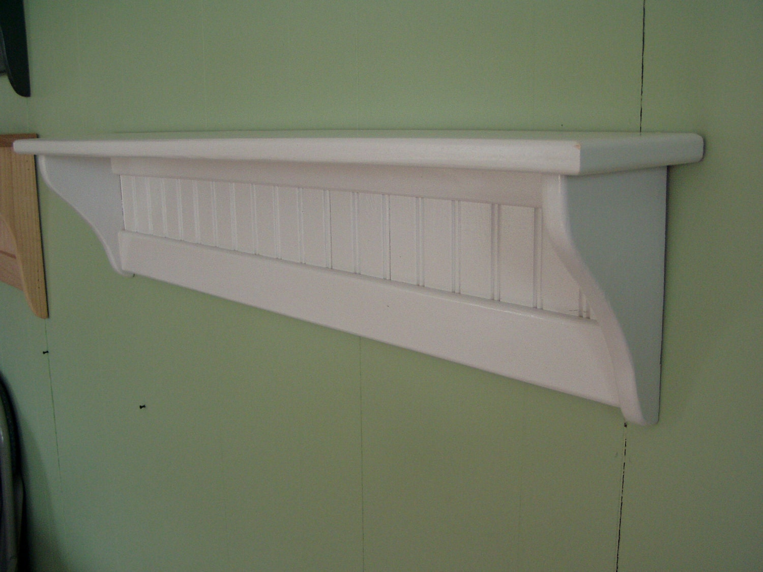 pine painted wood wall shelf 36 inches white 89224